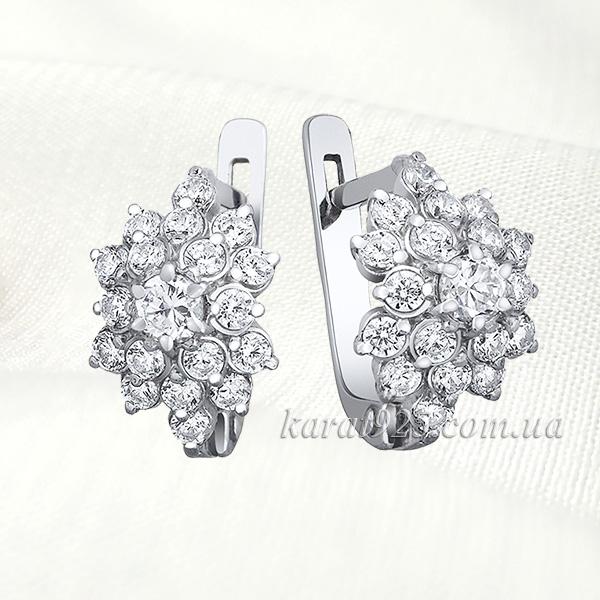срібні сережки родовані